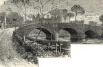 Engraving from Old & New Edinburgh  -   Old Saughton Bridge