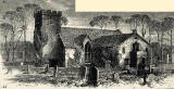 Engraving from Old & New Edinburgh  -   Cramond Church