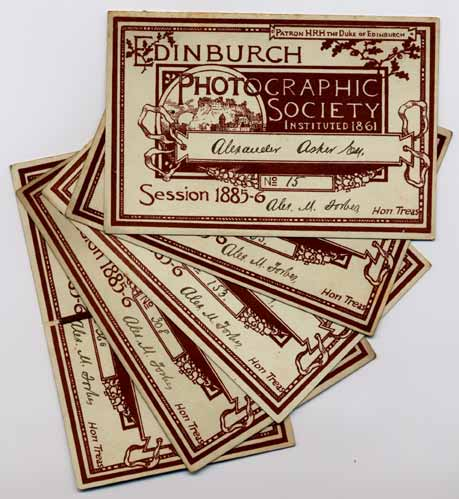 EPS Membership Cards  -  1885-86