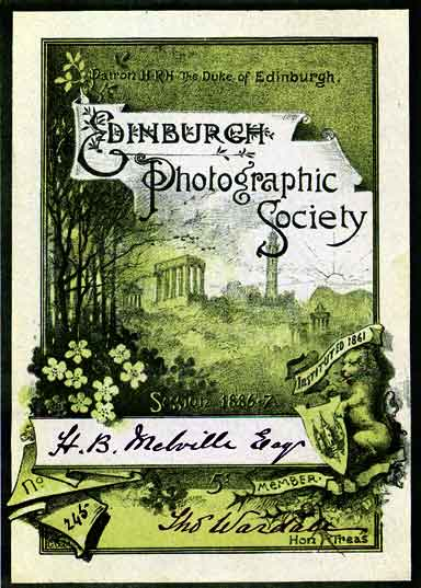 EPS Membership Card  -  1886-87
