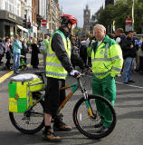 Princes Street, on the day of the visit by Pope Benedict XVI, September 16, 2010  -  Cycle Ambulance