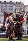 Street Entertainment during the Edinburgh Festival 2003  -  Pipers 1