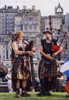 Street Entertainment in during the Edinburgh Festival  -  Pipers 2