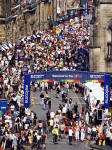 Royal Mile Crowds during the Edinburgh Festival, 2003  -  as seen from the Camera Obscura
