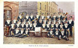 Postcard published by W Prosser, Cathcart  -  Band of HM 17th Lancers at Piershill Barracks  -  Postcard posted 1904