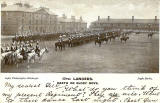 17th Lancers on Parade at Piershill Barracks  -  Inglis Postcard, Posted 1903
