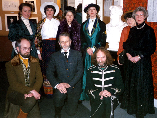 A Group of EPS Members dressed to celebrate the occasion of the 130th Anniversary of the Founding of Edinburgh Photographic Society  -  February 1991