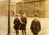 Three boys in Baird Drive, around 1930