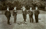 Bowlers 1901 - Which Club  -  Photograph by CE Ross, Stockbridge, Edinburgh