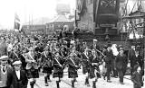 1st Leith Boys' Brigade Company marching through Leith Docks