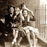 The Stewart family on the balcony at 1 Cables Wynd