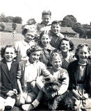 Girls and Boys in Wardie Park on Canonmills Primary School Sports Day - pre-1951