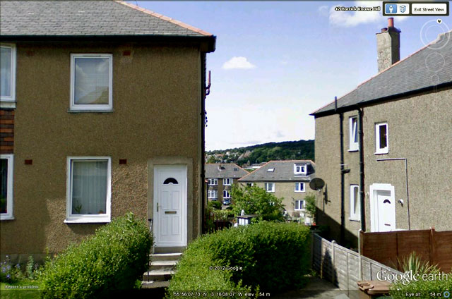 49 Carrick Knowe Hill - location of the Coronation Party photo taken in 1953