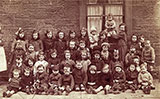 A group of kids at Drumdryn Street, near the King's Theatre, Tollcross  -  photo probably taken around 1919