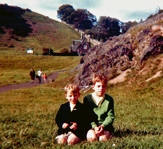 Dave and Charlie Meacher, near Duddingston Loch, around 1960