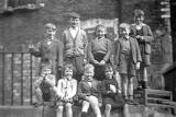 A group of nine children at Dumbiedykes in the mid-1950s