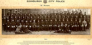 Edinburgh Police, 'D' Division, 1921 - Outside West End Police Station at Torphichen Street