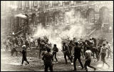 Edinburgh University, Rectorial Battle Day 1963  -  Fighting in the Old Quad