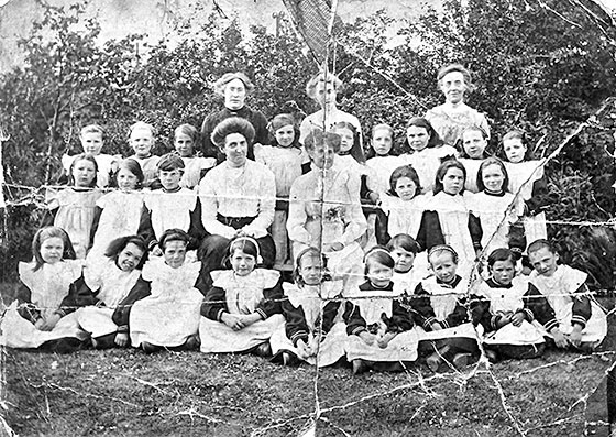 Children and Staff from Gilmerton Children's Home  -  Early-1900s