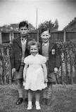 Jimmy white, his  brother and sister  -  Gilmerton, around 1950