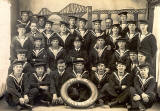 The Crew of HMS Columbine, photographed at Peter McGill's studio, Queensferry