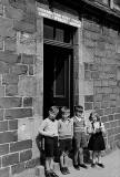 Four Children outside McNaught's store, 1959