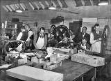 Lady Haig's Factory at the Canongate: Ten workers with wreaths