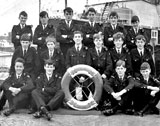 Trainees at Leith Nautical College, Training Ship TS Dolphin, 1967