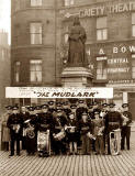 Leith Silver Band, beneath the statue of Queen Victoria at the Foot of Leith Walk
