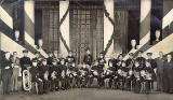 Leith Silver Band   -  probably on stage at Leith Town Hall in 1950s