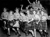 35th Liberton Scout Troop at Waverley Station, heading for camp in Holland, 1947