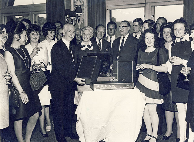 Retirement Presentation to Managing Director of Lunns, John Blackwood  -  Around the mid-1970s