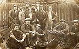 A group of Miners at Bo'ness  -  Photo possibly taken during the General Strike, 1926