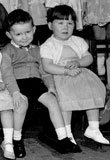 Eddie Duffy and Sister at Mrs Guthrie's 'Toy' School, Stockbridge, 1961