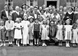 A group of neighbours and family in Niddrie Mains Terrace for the wedding of Bobby Quilietti and Jeanette Henderson