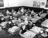 Lunch time at the wee tin school, Peffermill Road, Craigentinny - 1950
