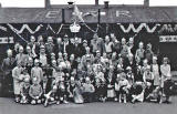 A Group at Piershill Square West celebrates the Coronation of Queen Elizabeth in 1953