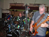 John (Dinky) on drums and Bruce on bass at a Plastic Meringue Reunion in 2007