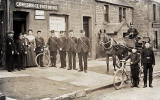 Post Office Worker and Vehicles   -  Gorebridge Post Office, early-1900s