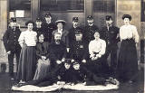 Post Office Workers   -  Penicuik Post Office, early-1900s