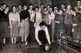A group of Edinburgh Professional Photographers bowling at Abercorn Roadhouse, Piershill, in 1955