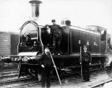 Caledonian Railway Engine and Workers, near Slateford, Edinburgh