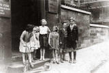 Group of Children at the foot of the Stair, 1 Ramsay Lane