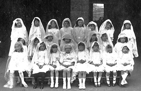 St Mary's Primary School, York Lane  -  First Communion ClassClass, around 1924