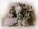 A theatrical group, including Helen Henderson in green.  What was the show?