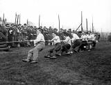 A tug of war competition at Edinburgh University Sports Fields at Myreside  -  Probably some time between 1910 and 1930