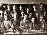 Tynecastle Secondary School  -  A class with Meccano  -  around 1930