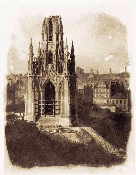 Hill & Adamson Calotypes - The Scott Monument under construction