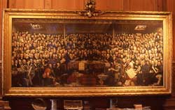 DO Hill's oil painting of The Disruption
