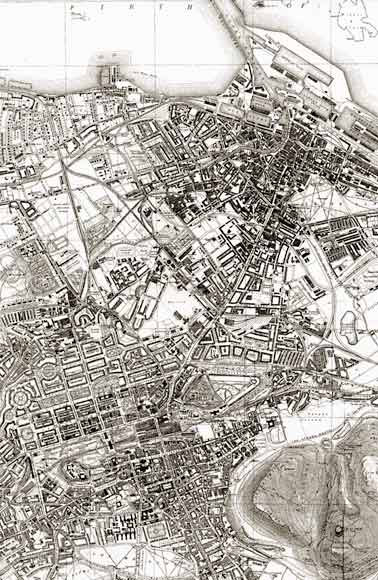 Map of Edinburgh and Leith  -  1917